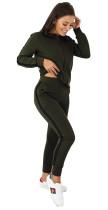 Long Sleeves Blank Gestreifter Trainingsanzug