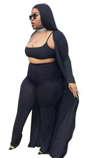 Plus Size Three Piece Pants Set