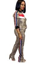 Спортивный костюм с длинными рукавами с леопардовым принтом