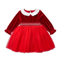 Robe d'anniversaire rouge Kids Girl