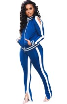Sports Striped Long Sleeve Tracksuit