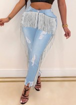 Sexy jeans met hoge taille