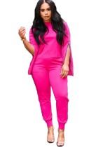 Einfarbiges Freizeithemd mit Reißverschluss und Hose