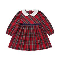 Vestido de cumpleaños a cuadros para niñas