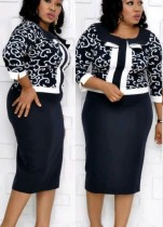 Plus Size Mother of the Bride Patchwork Dress