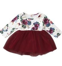 Vestido de aniversário floral infantil