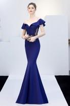 Sexy Schatz Perlen Meerjungfrau Abendkleid