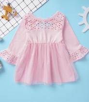 Детское розовое платье A-Line
