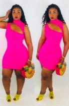 Düz Renk Bodycon Elbise Kesip