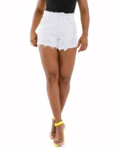 Denim shorts met hoge taille