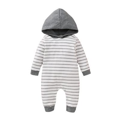 Mamelucos con capucha de manga larga a rayas para niños