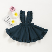Kids Girl Ruffles Bib Skirt