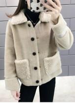 Winter Polar Fleece Blank Kurzmantel