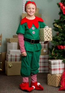 Christmas Boy Green Costume