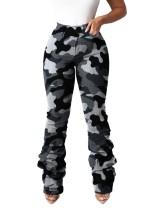 Pantalones de camuflaje sexy de cintura alta