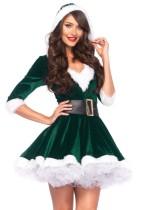 Weihnachten Frauen grünes Kostüm