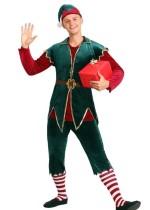 Weihnachtsmänner rot und grün Kostüm