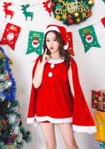 Weihnachtsfrauen-rotes Kostüm