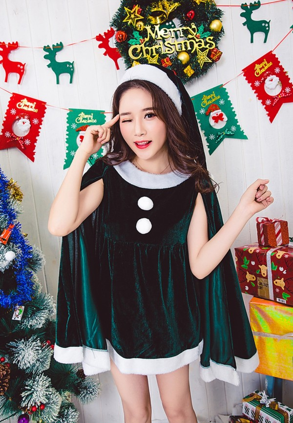 Christmas Women Green Costume