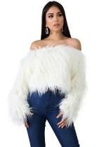 Suéter de piel sexy fuera del hombro