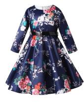Kids Girl Цветочное вечернее платье с поясом