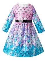 Kids Girl Русалка Вечернее платье с поясом