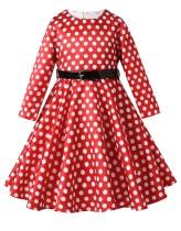 Kids Girl Горошек вечернее платье с поясом