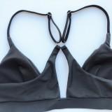 Sexy Black Straps Zweiteilige Badebekleidung