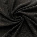 Schwarzes metallisches trägerloses Midi-Partykleid