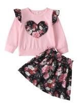 Kids Girl Floral Ter ve Etek Takımı