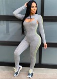 Sport Sexy enger Overall mit Crop Top