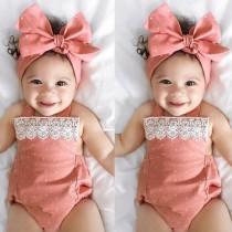 Baby Girl Sommer ärmellose Neckholder Strampler