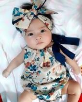 Baby-Sommer-ärmelloser Blumenspielanzug