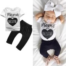 Conjunto de pantalón y camisa de verano con estampado de bebé niño