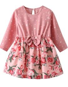 Детское платье с длинными рукавами и цветочным принтом Kids Girl