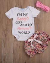 Kız Bebek Yaz Yazdır Bodysuit ve Etek Seti