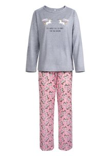 Mother's Animal Print Long Sleeve Pajama Set