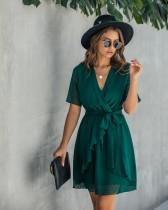 Vestido informal de capa con lunares de verano