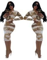 Bodyconjurk met etnische print en lange mouwen