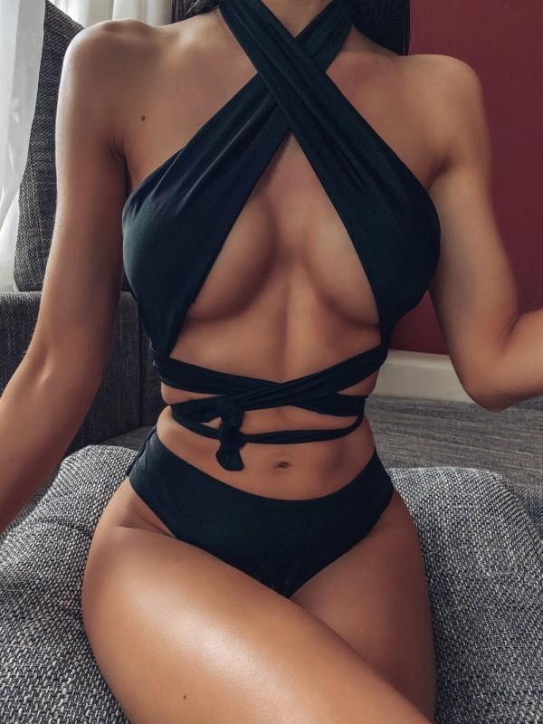 Sexy zweiteilige Cross-Badebekleidung