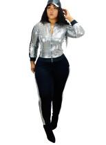 Пиджак с пайетками с длинными рукавами и брюки