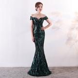 Pailletten Schatz Meerjungfrau Abendkleid