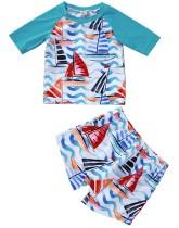 Kids Boy Print Летняя рубашка и шорты