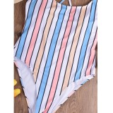 Sexy Stripes Straps Badeanzug