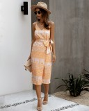 Sexy Ethnic Straps Langes Kleid