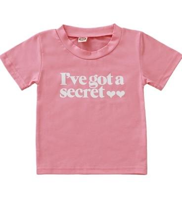Camisa de verano con estampado de niña para niños