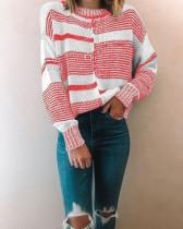 Jersey básico cuello redondo en contraste