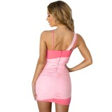 Sexy Contrast Straps Mini Party Dress