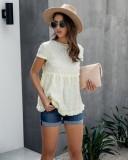 Sommer Kurzarm Rüschen Schößchen Shirt