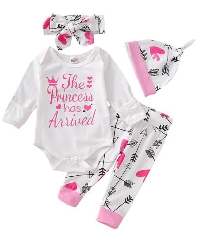 Pagliaccetti e pantaloni stampati per bambina con cappello e fascia